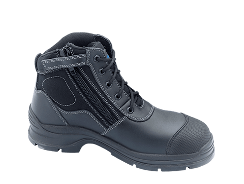 Blundstone 319 Zip up series  Men's or Women's Work and Safety Boots Black Leather Steel Toe Cap