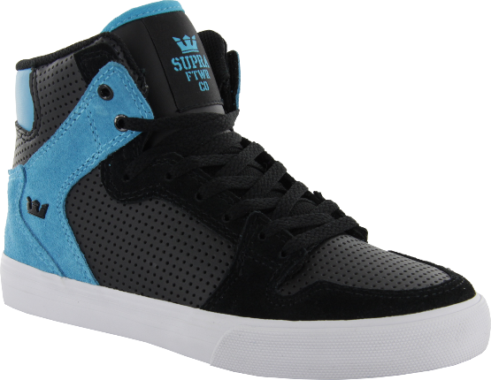 Supra Kids Vaider Black Tourquise High Tops Famous Rock Shop Newcastle 2300 NSW Australia