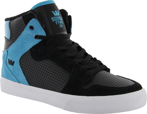 Supra Kids Vaider Black Tourquise High Tops