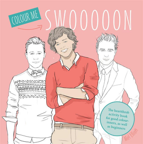 Swoon The Heartthrob Activity Book for Good Colour-inners, as Well as Beginners