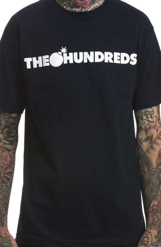 The Hundreds Forever Bar Navy Logo T-Shirt