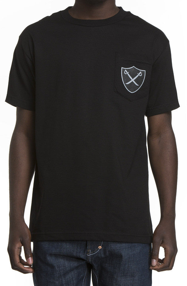 The Hundreds Pirate Black Pocket T-Shirt  Famous Rock Shop Newcastle 2300 NSW Australia