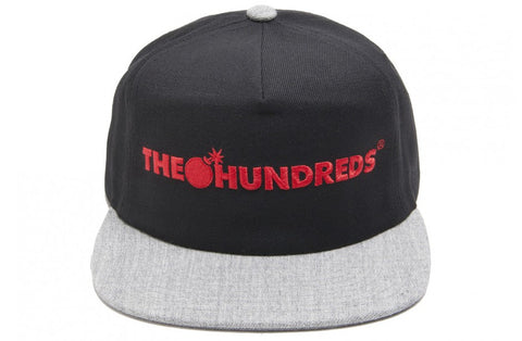The Hundreds Bar Logo Black Snapback Cap