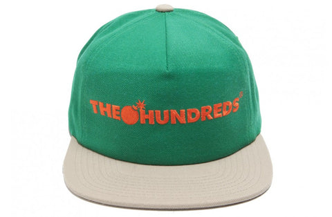The Hundreds Bar Logo Green Snapback Cap