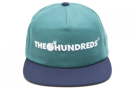 The Hundreds Bar Logo Blue Snapback Cap
