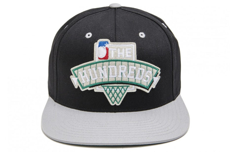 The Hundreds Team Two Black Adjustable Back Cap