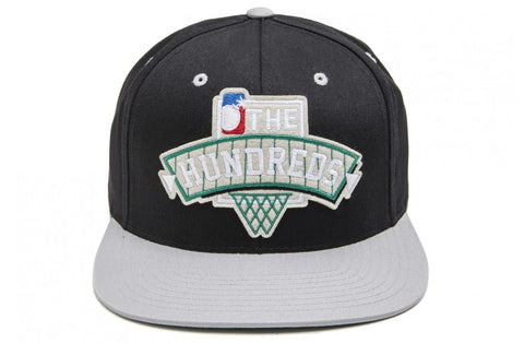 The Hundreds Draft Black Snapback Cap