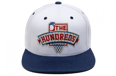 The Hundreds Draft White Snapback Cap