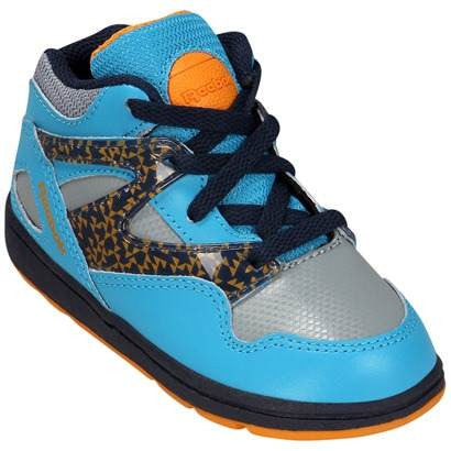 Reebok Kid's Toddler Versa Pump Omni Lite Blue Grey Navy Orange