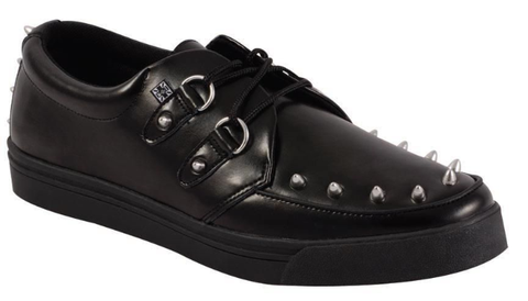 Tuk Black Leather Studded Sneaker