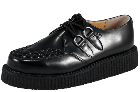 TUK Creeper Low Black Leather A6806  Famous Rock Shop 517 Hunter Street Newcastle 2300 NSW Australia
