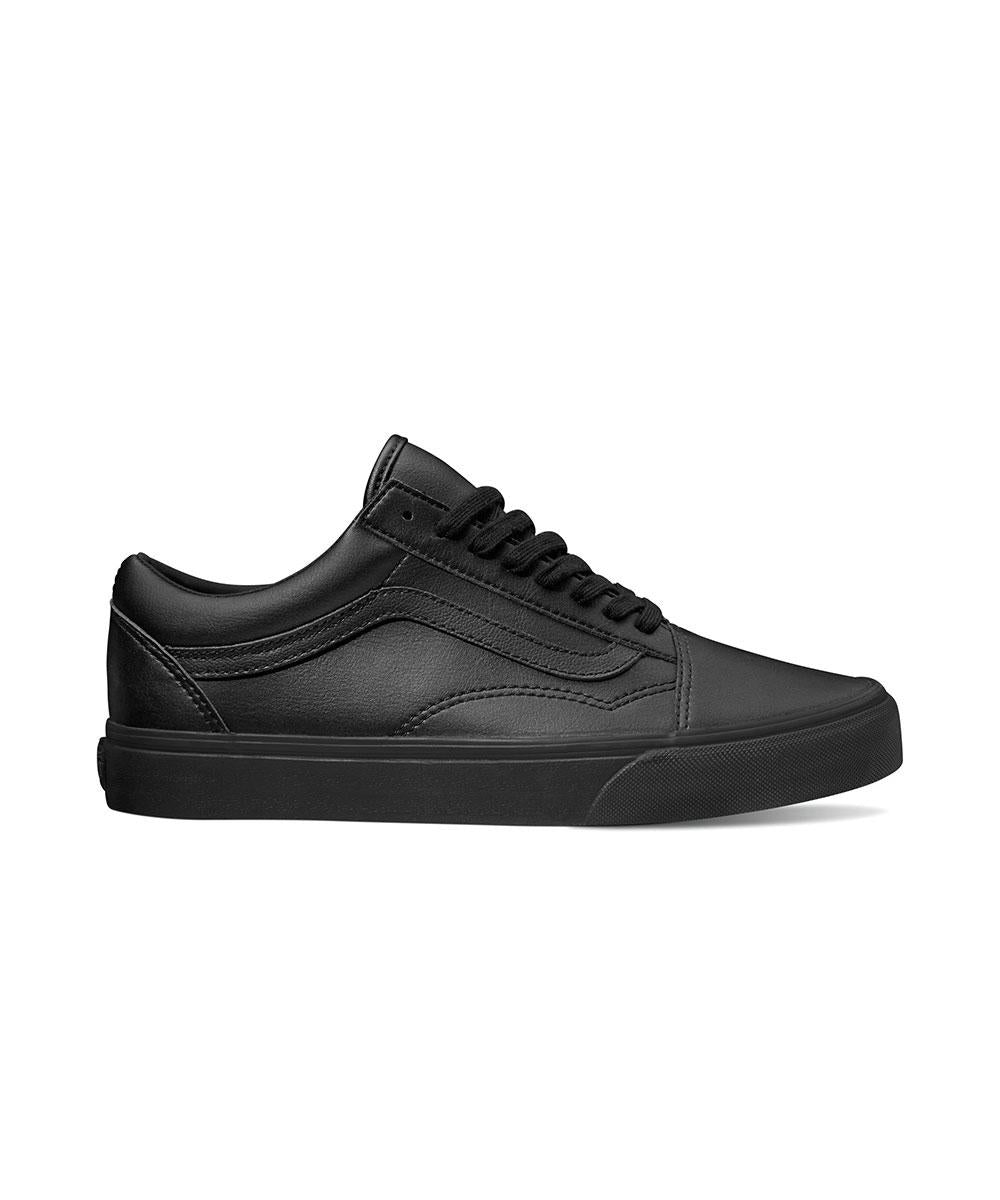 ec6588eb0a Vans Old Skool Classic Tumble Black Mono Leather VN0A38G1PXP – Famous Rock  Shop