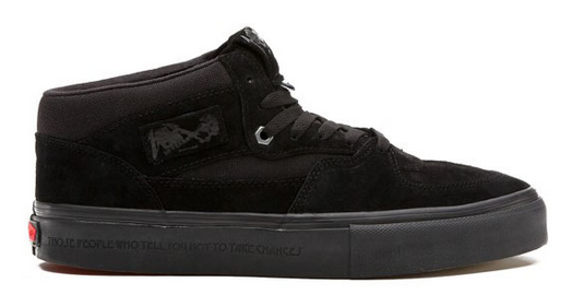 406f87ac6318 ... Vans Metallica Half Cab Pro Black Suede Black Limited Edition Metallica  Famous Rock Shop Newcastle 2300 ...
