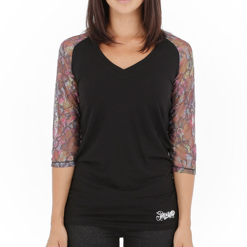 Jetpilot Bec Girls Raglan Black Women's Sizing 8-16 Famous Rock Shop. 517 Hunter Street Newcastle, 2300 NSW Australia