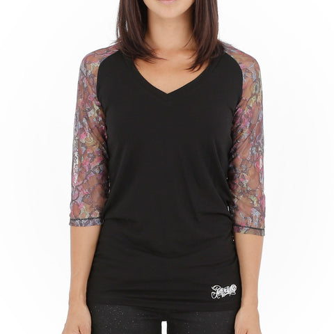 Jetpilot Bec Girls Raglan Black
