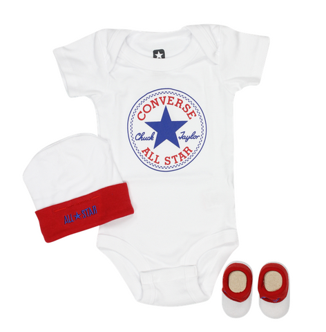 Converse White Crib Set