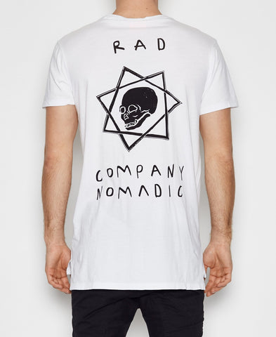 Nomadic Paradise Big Rad Co White T-Shirt