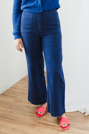 Sailor Cord Pant in French Blue