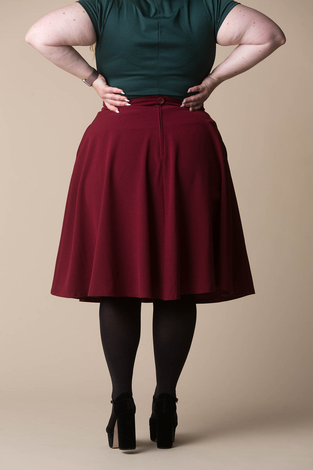 Tilda Skirt in Maroon