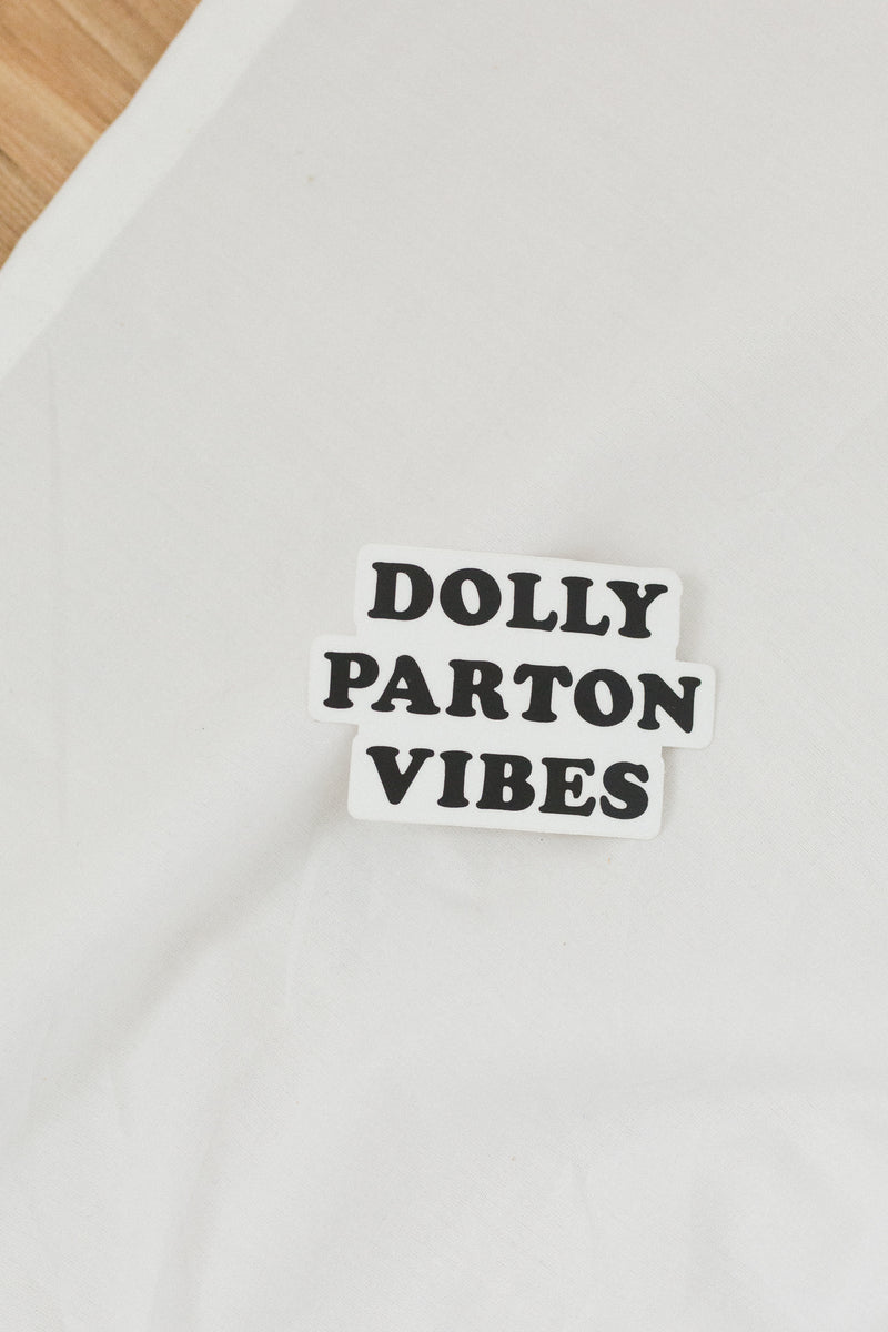 Dolly Parton Black Sticker