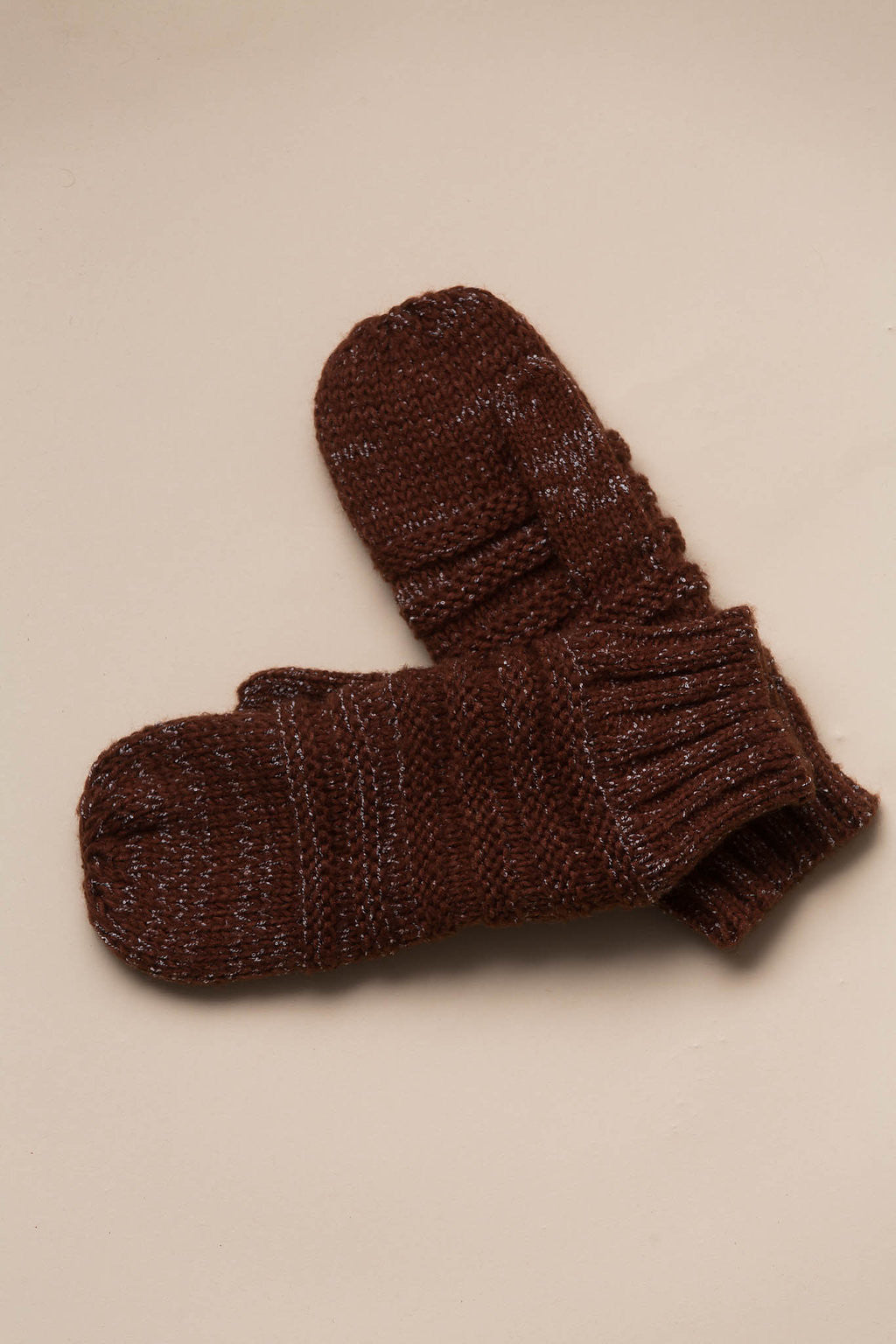 Quebec Knit Mittens in Clay Gloves Look By M - Hello Holiday