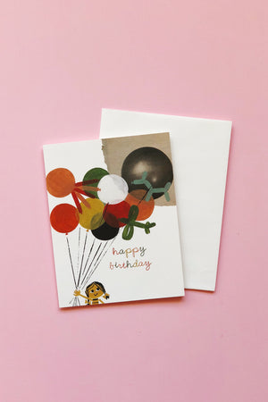 Balloon Bouquet Birthday Card Cards Red Cap Cards - Hello Holiday