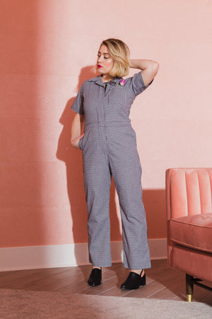 Gingham Coveralls