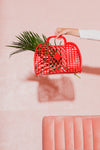 Large Jelly Retro Basket - Red
