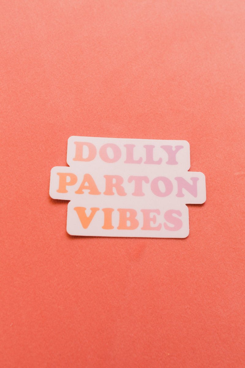 Dolly Parton Gradient Sticker