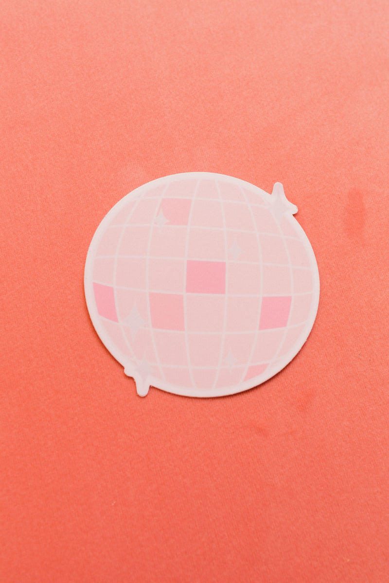 Pink Disco Ball Sticker