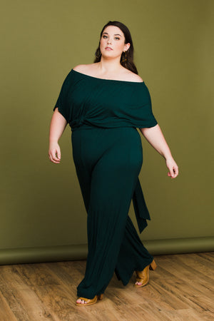Gabby Jumpsuit in Emerald