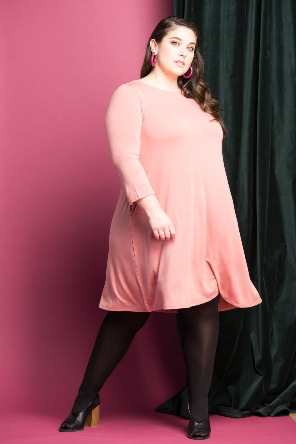 Jazz Swing Dress in Rose