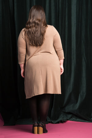 Jazz Swing Dress in Mocha