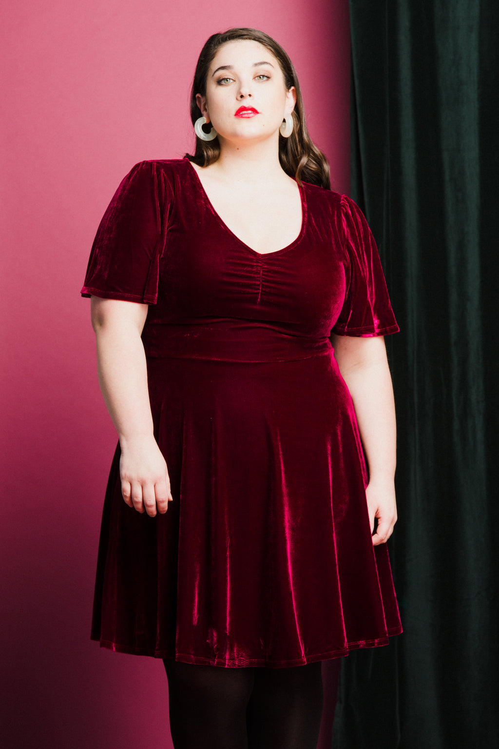 December Dress in Burgundy