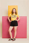 Girls T-Shirt in Yellow