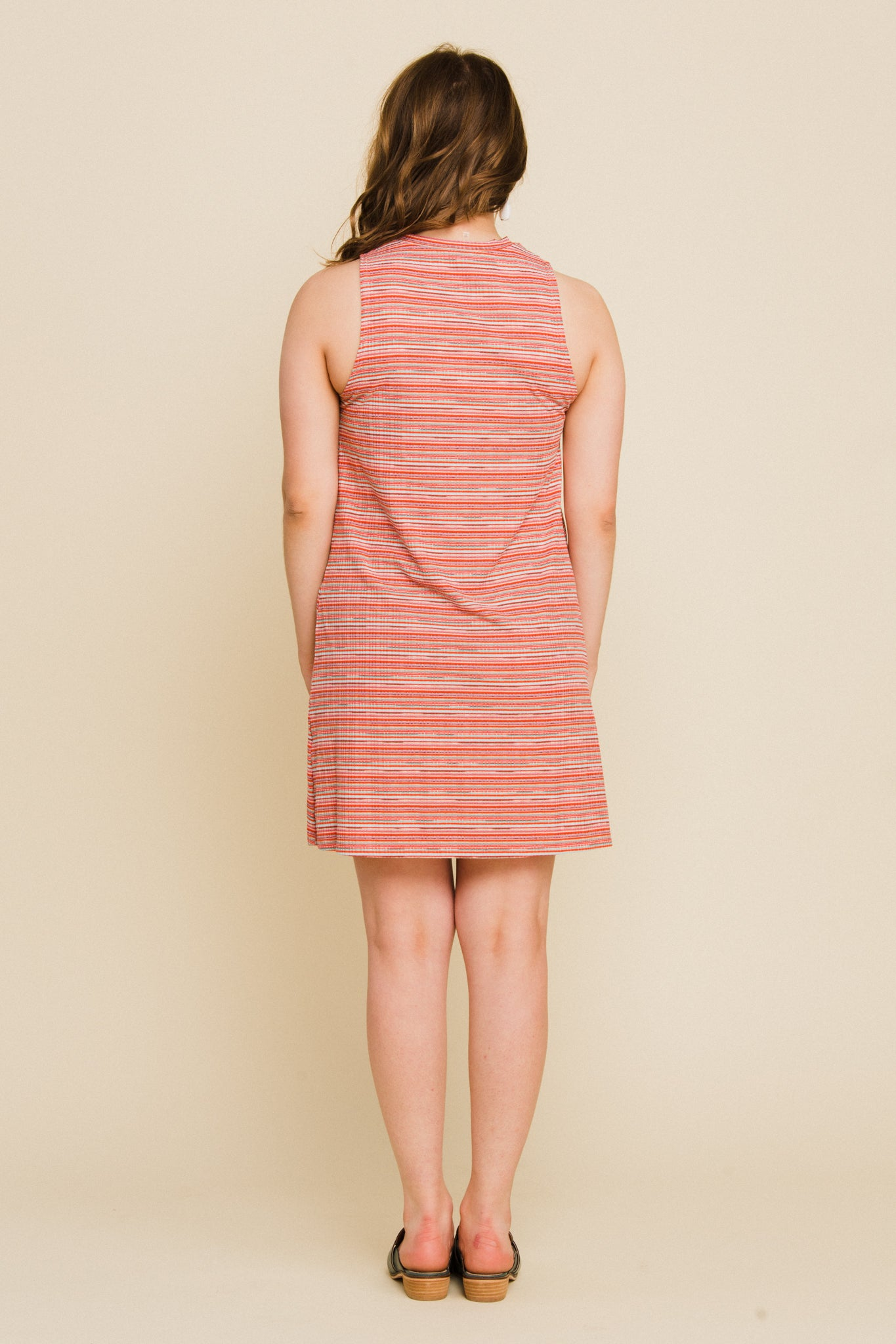 Sunshine Dress in Rainbow Stripe