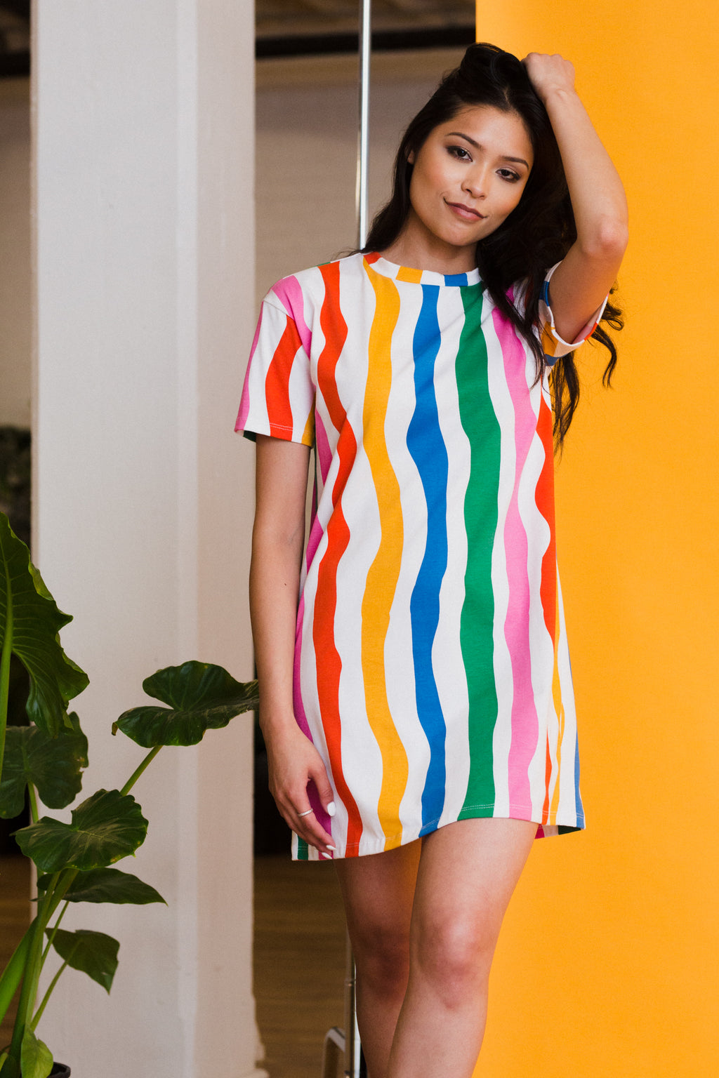 Salvation Stripe Tee Dress