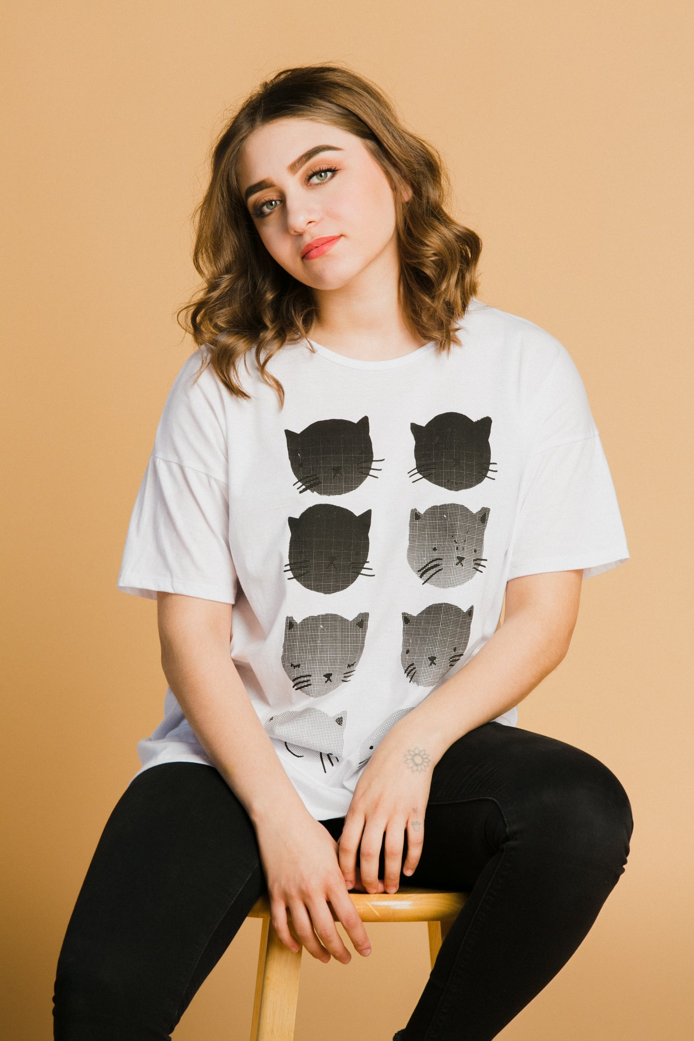 Fading Cats Loose Tee