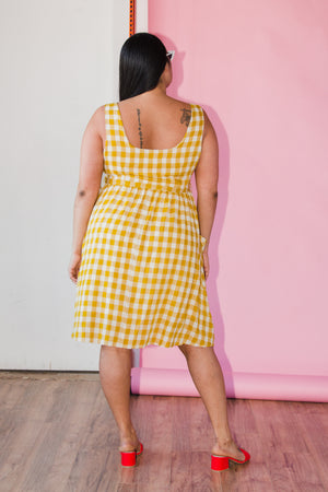 Amy Dress in Yellow
