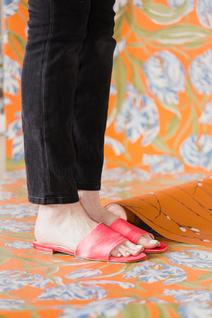 Jessica Sandals in Electric Coral