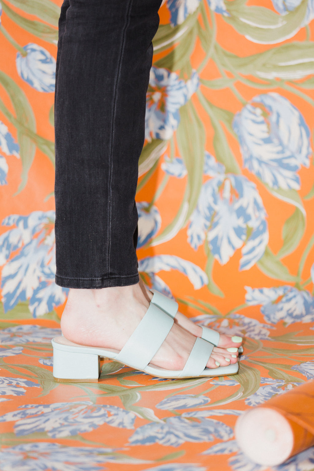Scamp Heels in Baby Blue