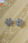 Checkerboard Daisy Earrings