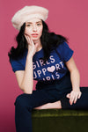 Girls T-Shirt in Navy T-Shirts Daisy Natives - Hello Holiday