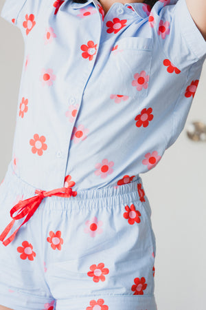 Retro Daisy Sleep Top