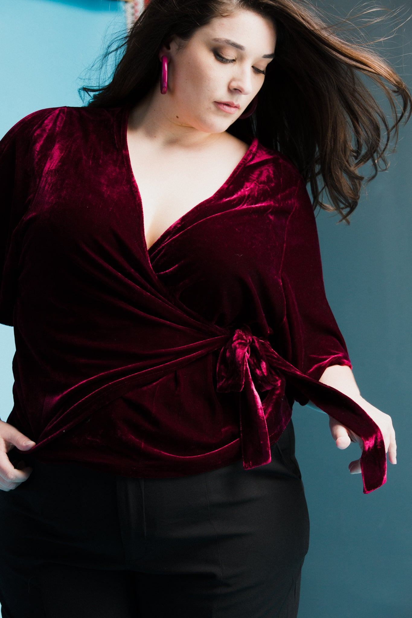 Ruby Wrap Top