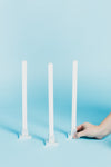 Blue Square Dripless Candle