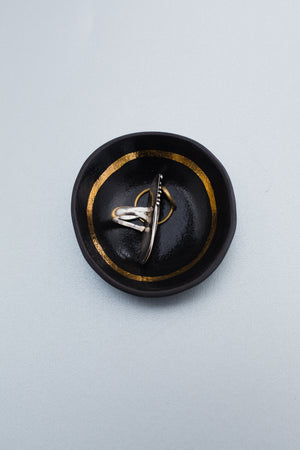 Black + Gold Small Dish Decor The Object Enthusiast - Hello Holiday