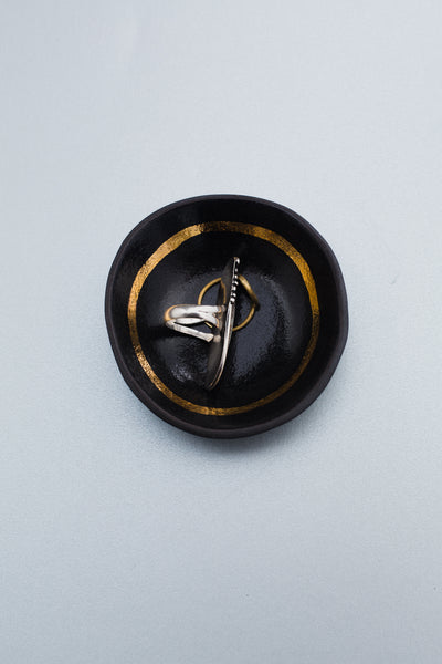 Black + Gold Small Dish