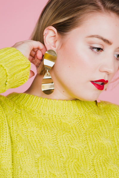 Cintura Earrings in Brass Accessories Seaworthy - Hello Holiday