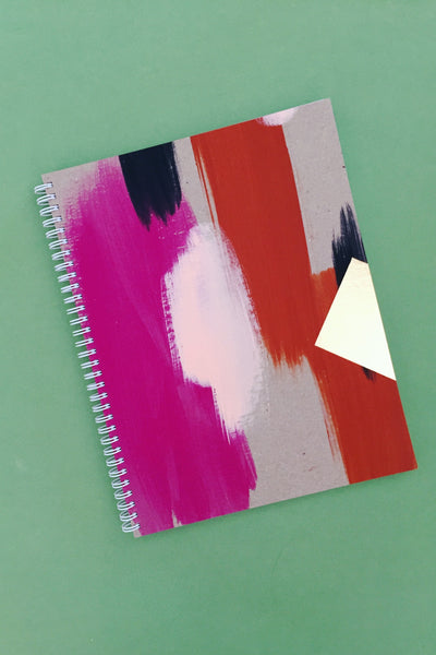 Painted Sketchbook in Peony